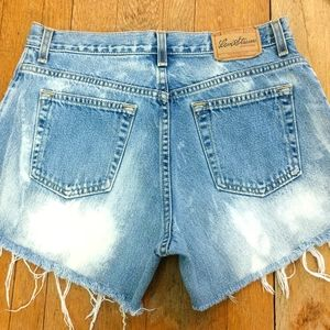 Levis high rise jean shorts